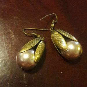 Vintage Costume Jewelry - Pearl & Copper